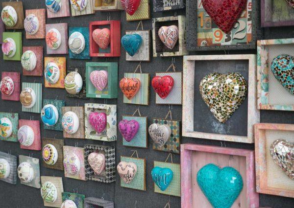 heart shaped artwork